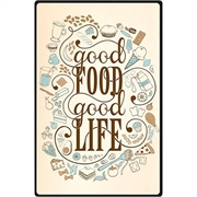 Placa Decorativa Good Food 30X20CM